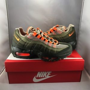Nike Shoes Air Max 95 Og Neon Orange And Neutral Olive Poshmark